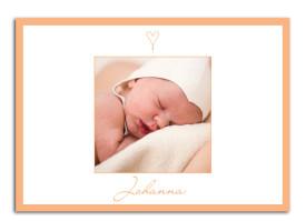 Babykarten Johanna/Jacob (Postkarte) Apricot