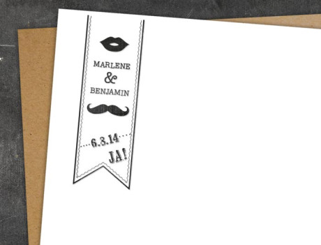Hochzeitsstempel Moustache