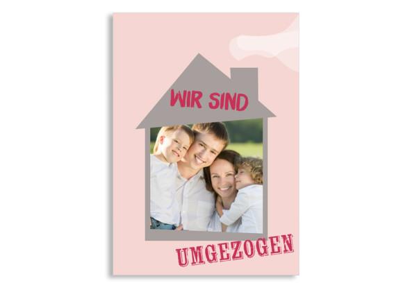 Umzugspostkarte Housewarming