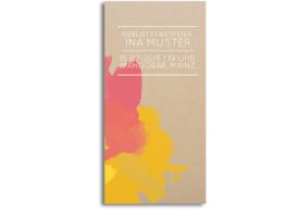 Einladungskarte Aquarell (Postkarte) Gelb/Pink