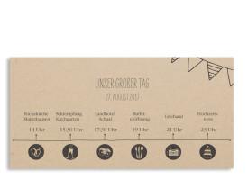 Einladungskarten zur Hochzeit Timeline Cute Dunkelgrau