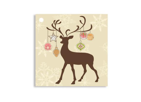 Geschenkanhänger Weihnachtsgeweih