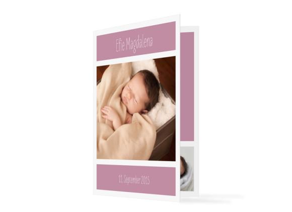 Geburtskarte Efie/Eddy (Klappkarte A6)