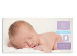 Babykarten Mathilda/Matteo (Postkarte, zwei Fotos)