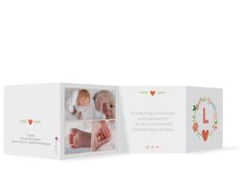 Geburtskarten Laura/Levi (Leporello) Apricot