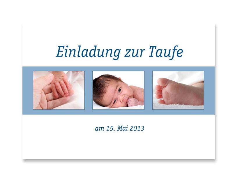 Taufkarte Jette/Jannik (Postkarte) Blau. Einladung Zur Taufe ...