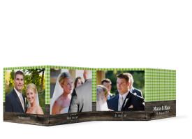 Foto-Leporello zur Hochzeit Alpenglühen (Gastgeschenk) Grün