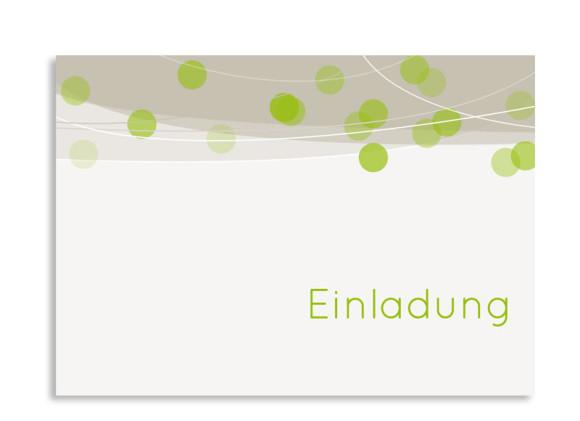 Einladungen zum Geburtstag Lampion (Postkarte ohne Foto)