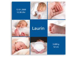 Geburtsplakat Luise Laurin Blau
