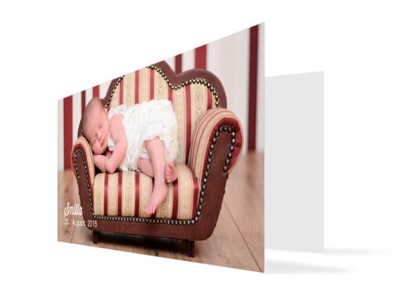 Fotokarten zur Geburt (DL-Klappkarte)
