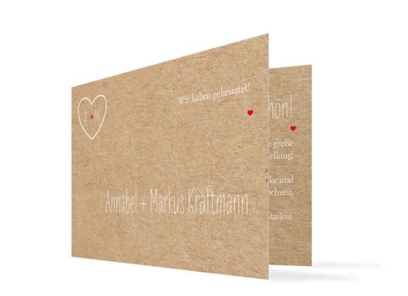 Danksagung Hochzeit Luzern (Klappkarte)