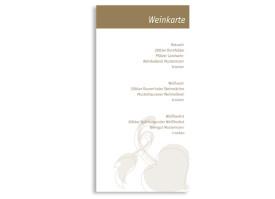 Menükarten zur Hochzeit Oslo (DIN Lang-Karte) Beige
