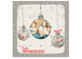 Foto-Adventskalender Christmas Bubbles