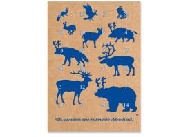 Adventskalender Waldtiere (DIN A4) Blau