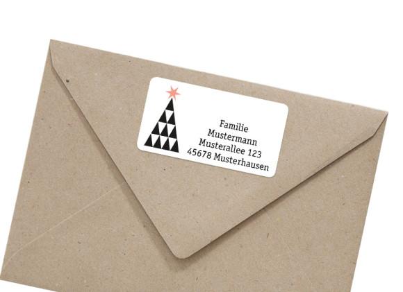 Adressetiketten Origami (Weihnachten)