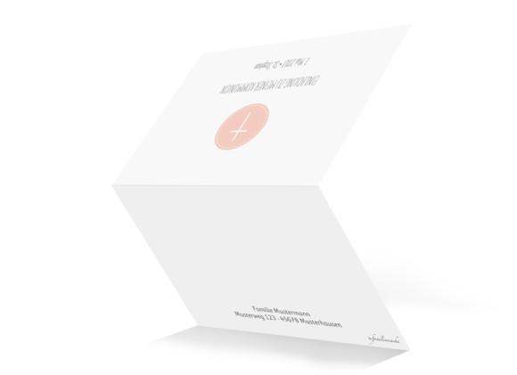 Einladung zur Kommunion Motiv Pure Cross, Außenansicht, Farbversion: apricot