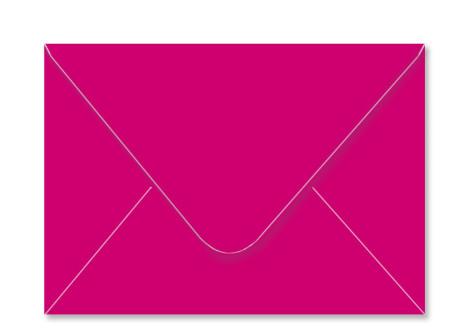Umschlag im Format C6 (162 x 114 mm), pink
