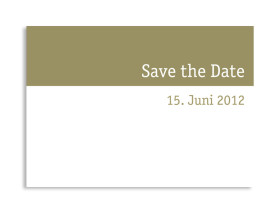 Save-The-Date-Hochzeitskarte Colour (Postkarte A6) Beige