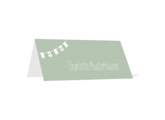 Tischkarte Wimpelkette