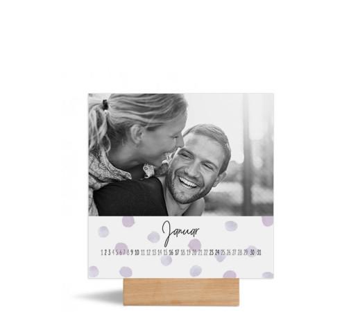 """Foto-Tischkalender """"Pünktchen""""  150x150 mm"""
