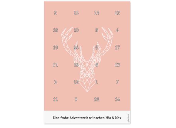Foto-Adventskalender Origami Hirsch (DIN A4)