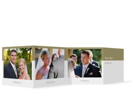Foto-Leporello zur Hochzeit Colour (Gastgeschenk) Beige