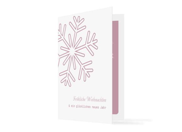 Firmen-Weihnachtskarten Eiskristall (Klappkarte)
