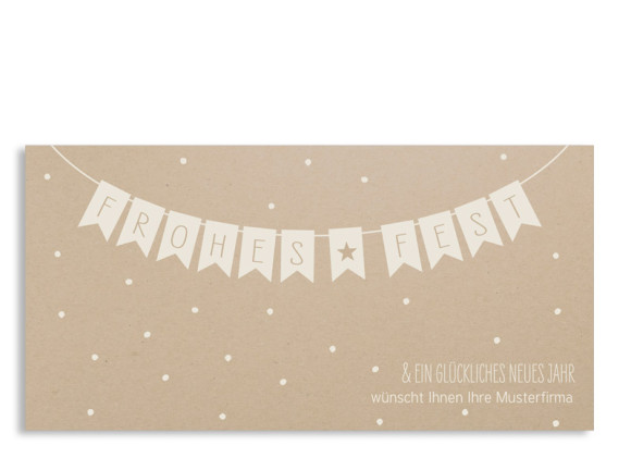 Firmen-Weihnachtskarte Weihnachtskette (Postkarte)