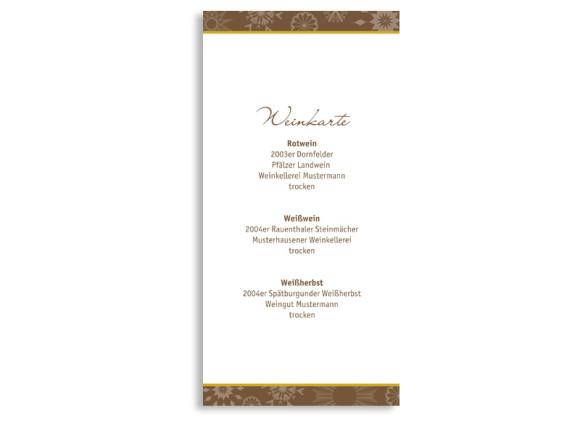 Menükarten zur Hochzeit Reykjavik (DIN Lang-Karte)