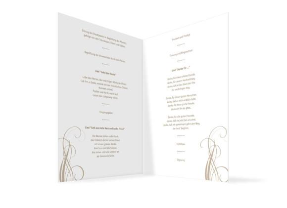 Innenansicht, Klappkarte zur Hochzeit (Kirchenheft), Motiv Dublin, Farbversion: beige