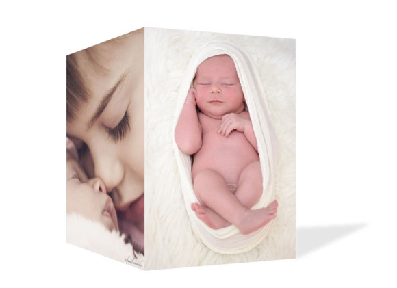 Babykarten Foto, Außenansicht in weiß