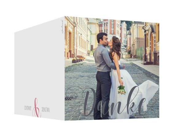 Danksagung zur Hochzeit Cannes Pure, Außenansicht in der Farbvariante: puder