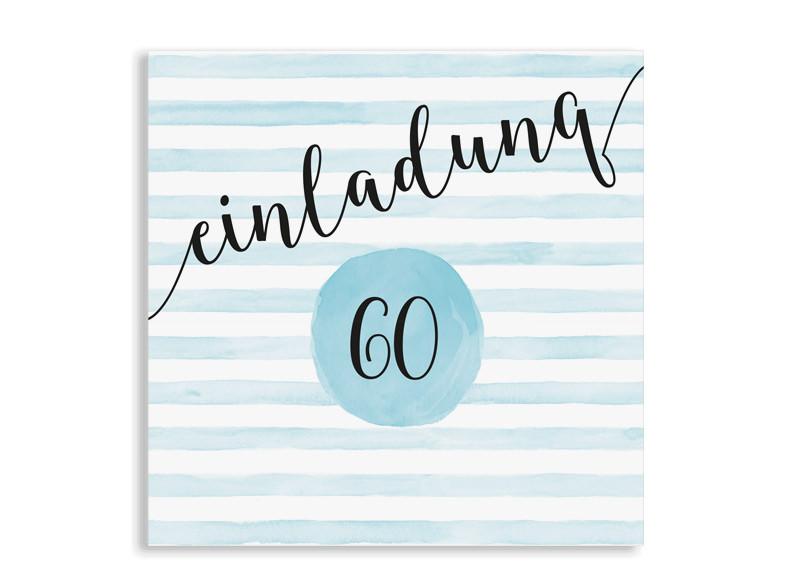 Einladungskarten Zum 60 Geburtstag Dots N Stripes