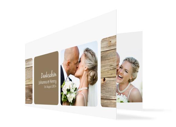Hochzeitsdanksagungen Zürich (Klappkarte)
