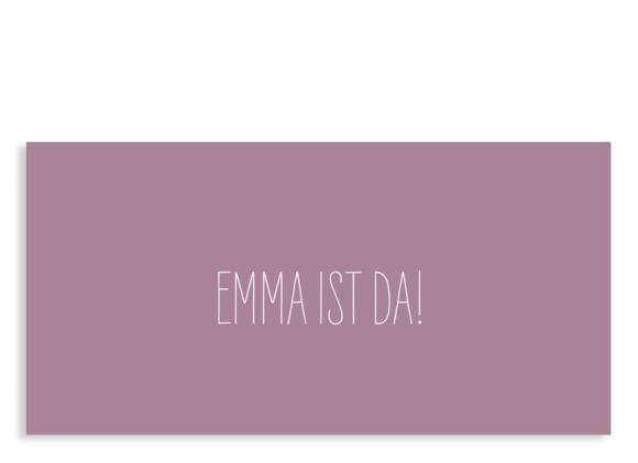 Babykarte Emma/Emil