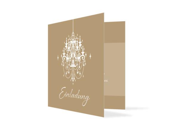 Einladungskarte zum Geburtstag Gala (Klappkarte quadratisch)