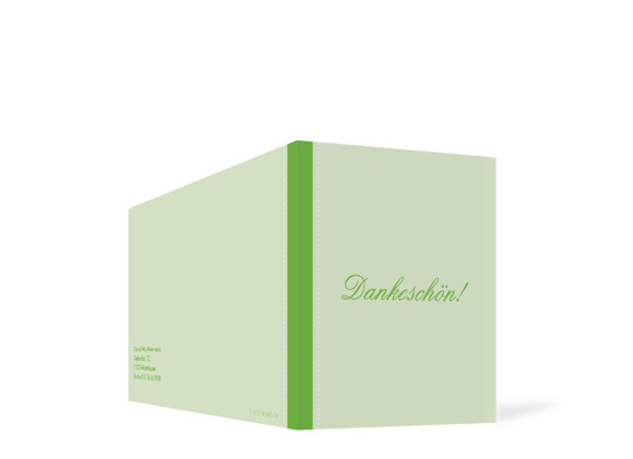 Außenansicht, Taufdanksagung Simone/Simon, Farbversion: grün