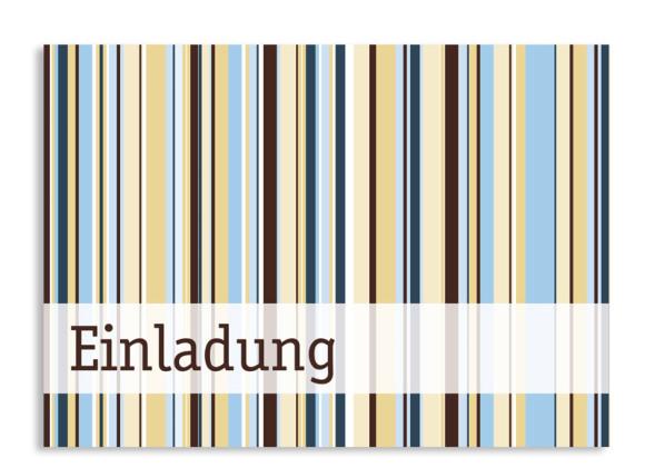Geburtstagseinladung Stripes (Postkarte A6)