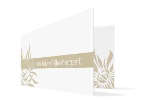 Einladung Silberhochzeit Florenz (Klappkarte, ohne Foto) Beige