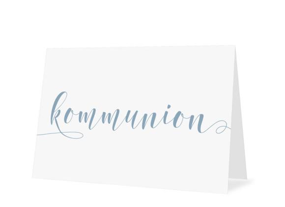 Einladungskarten zur Kommunion Calligraphy