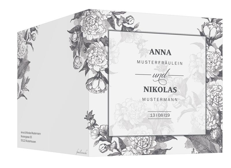"""einladungskarten hochzeit """"bukarest"""" ♥ vintage-hochzeitskarte"""