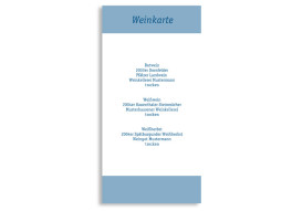 Menükarten zur Hochzeit Klassik (DIN Lang-Karte)