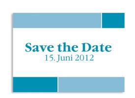 Save-The-Date-Hochzeitskarte Helsinki (Postkarte A6) Blau