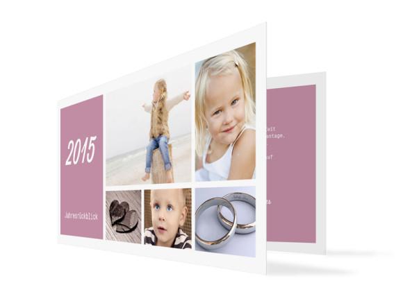 Neujahrskarten Efie/Eddy (Klappkarte DL)