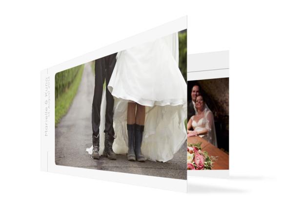 Hochzeits-Danksagungskarte Boston (Klappkarte)