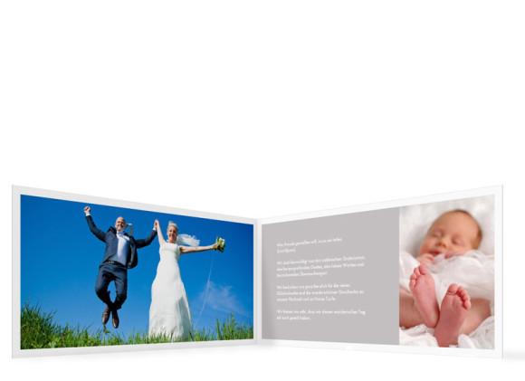 Danksagung zur Taufe & Hochzeit Athen, Außenansicht der Farbversion: grau
