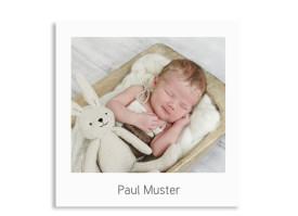 Babykarte Polaroid Weiß