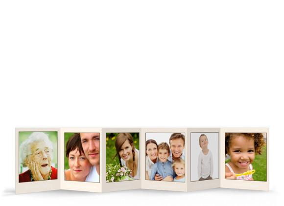 Rückseite, Fotoleporello als Geschenkidee, Motiv Farbrahmen, Farbversion: beige