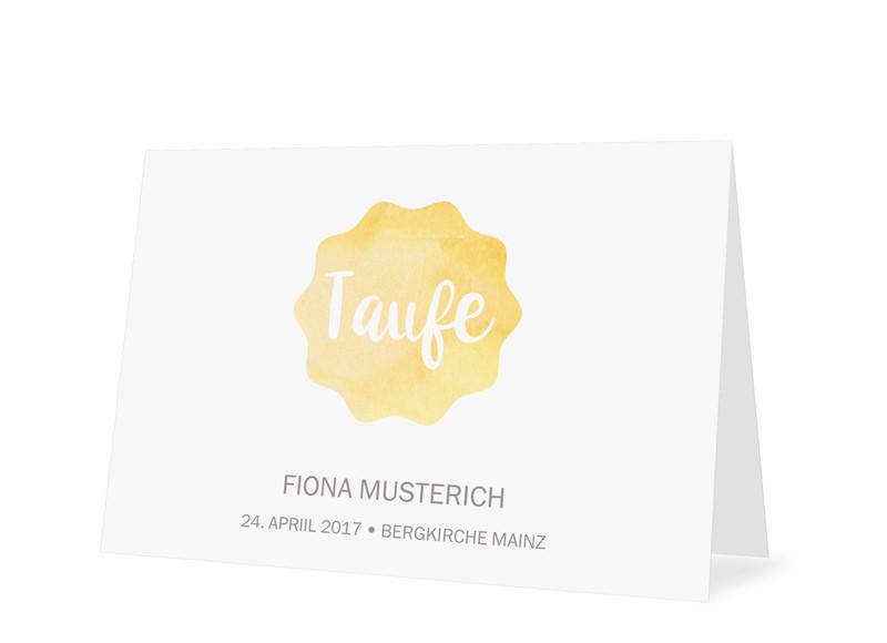 Einladungskarten Zur Taufe Sonne Gelb