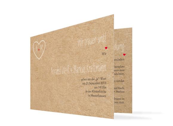 Einladungskarten Hochzeit Luzern (Klappkarte)